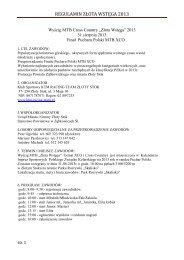 regulamin złota wstęga 2013 - Czasomierzyk - elektroniczny pomiar ...