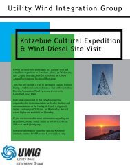 Utility Wind Integration Group Kotzebue Cultural Expedition & Wind ...
