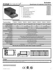 TM / RM080FN Actuators - Neptronic