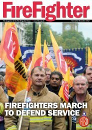 FIREFIGHTERS MARCH TO DEFEND SERVICE - Fire Brigades Union