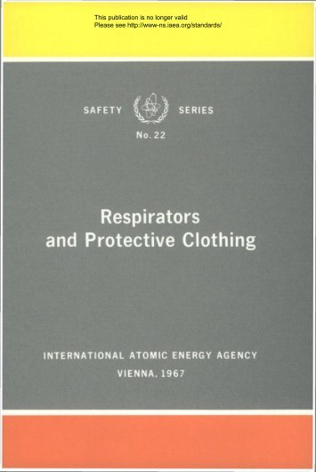 SAFETY Xj~r^'j SERIES Respirators and Protective Clothing - gnssn