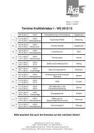 Termine Kraftfahrlabor I - WS 2012/13 - ika - RWTH Aachen University