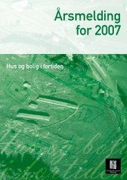 Årsmelding for 2007 - Arkeologisk museum - Universitetet i Stavanger