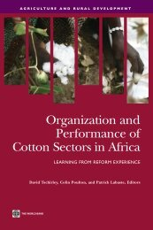 Organization and Performance of Cotton Sectors in Africa ... - infoDev