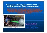 Testing General Relativity with LARES, LAGEOS ... - LARES Mission