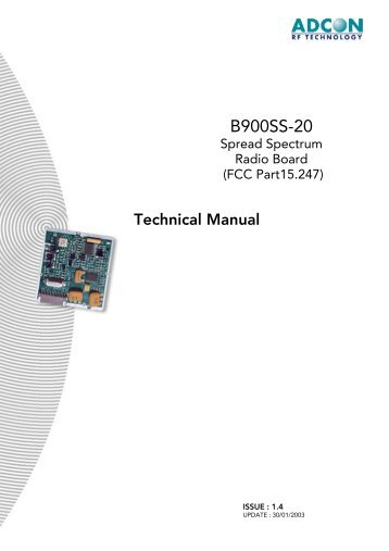 B900ss-20 Technical Manual - RF Solutions