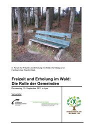 Freizeit und Erholung im Wald: Die Rolle der Gemeinden