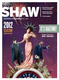 IT'S RAGTIME! - Shaw Festival Theatre