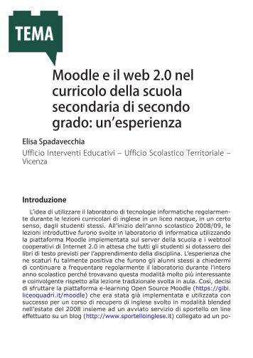 Moodle e il web 2.0 nel curricolo della scuola secondaria di ...