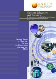 Nuclear Education and Training - Sustainable Nuclear Energy ...