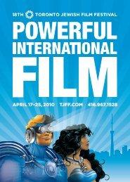 April 17 - 25, 2010 - Toronto Jewish Film Festival