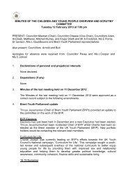 Minutes of the last meeting held on 12 February 2013 PDF 124 KB