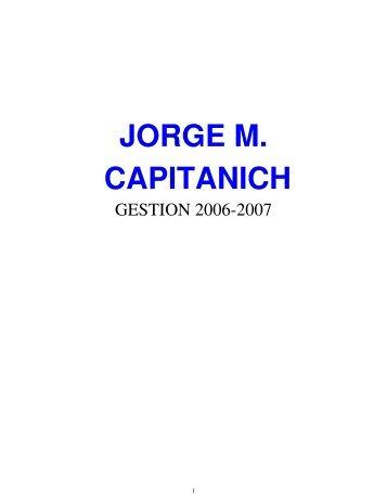 JORGE M. CAPITANICH - Honorable Senado de la Nación