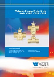 Valvole di zona 2 vie, 3 vie Serie VU02 - VU3 - Watts Industries