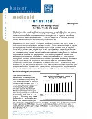 Medicaid and Managed Care: Key Data, Trends, and Issues - Policy ...