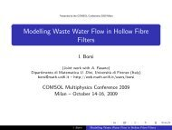 Modelling Waste Water Flow in Hollow Fibre Filters - COMSOL.com
