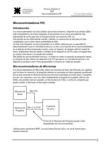 PIC introduccion - Universidad Tecnológica Nacional