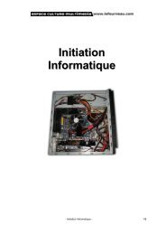 Initiation Informatique - Rue Libre