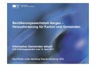 Referat Bevölkerungswachstum Aargau - UTA