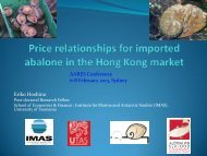 price integration and demand analysis of abalone in the hong kong ...