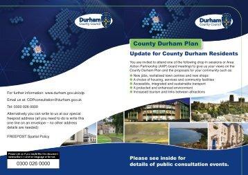 County Durham Plan – Resident Update - Nigel Martin