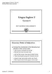 Lingua Inglese 2 CINT - LECTURE 6 (14/03/2012) (pdf, it, 109 KB, 3 ...