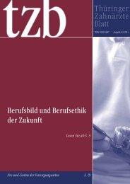 Thüringer Zahnärzte Blatt - Institut für Ethik und Geschichte der ...
