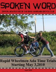 April 2010 - Rapid Wheelmen