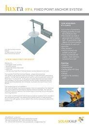 FPA FIXED POINT ANCHOR SYSTEM - Solarkauf