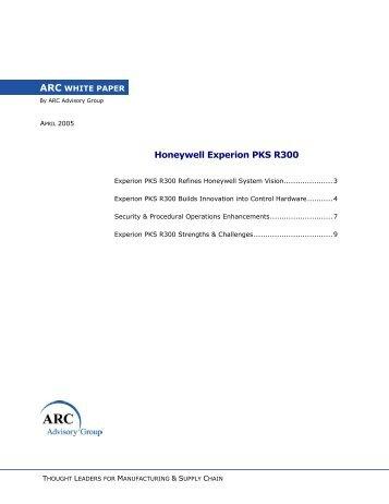 Honeywell Experion PKS R300 - Merkantile