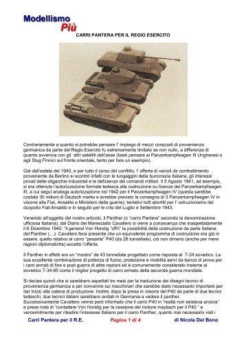 Carri Pantera per il R.E. Pagina 1 di 4 di Nicola Del Bono