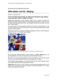SDH atleter ved OL i Beijing - Jesu Kristi Kirke af Sidste Dages Hellige