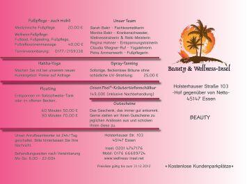 Fußpflege - Beauty & Wellness-Insel