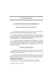 UNE MESURE D'INTÉGRATION DES ESPACES [ ]. - Region et ...