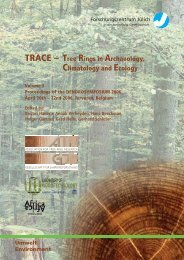 TRACE – Tree Rings in Archaeology, - JUWEL - Forschungszentrum ...
