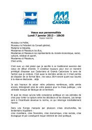 Vœux aux personnalités Lundi 7 janvier 2013 – 18h30 - Cahors