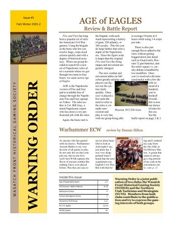 Fall/Winter 2001 - Wasatch Front Historical Gaming Society