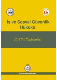 İstanbul Barosu İş ve Sosyal Güvenlik Hukuku 2011 Yılı Toplantıları