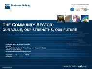 THE COMMUNITY SECTOR: - Queensland Council of Social Service