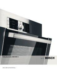 Bedienungsanleitung zu BOSCH HBG 78 B 750 Edelstahl - Innova