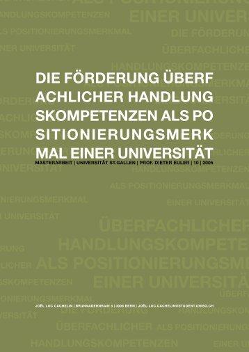 überfachlicher handlungskompetenzen als ... - Wissensfabrik