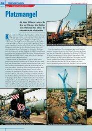 Kran & Bühne, August/September 2003: Einsatzbericht