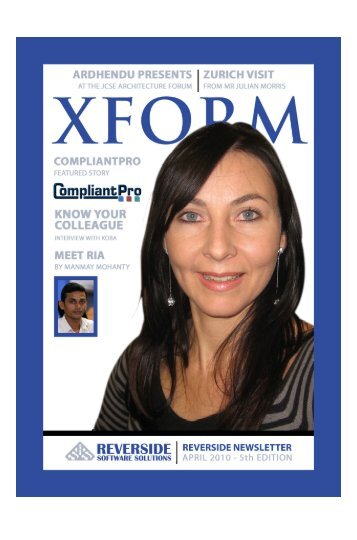 """XFORM"" April Edition #5 - Reverside.co.za"