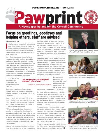 Cornell shares resource ideas - Pawprint - Cornell University