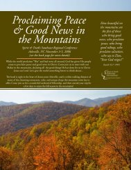 Proclaiming Peace & Good News in the Mountains - Spirit & Truth ...