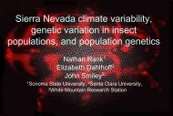 relationships between sierra nevada climate variability, genetic ...