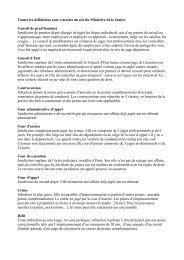 Toutes les définitions sont extraites du site du Ministère de le Justice ...