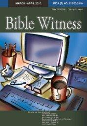 Christian And Work - Bible Witness