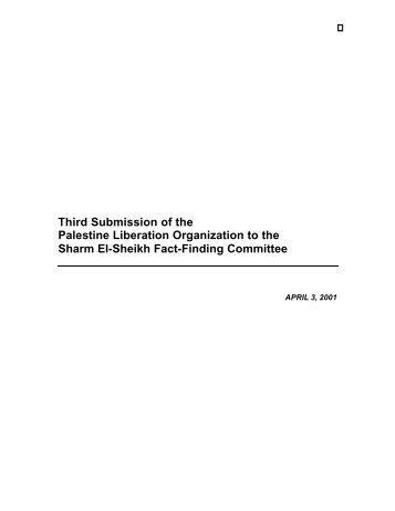 Response to Israeli Submission - Palestine Liberation Organization ...