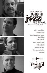 fifth annual - Yardbird Suite